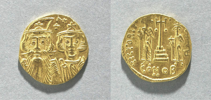Solidus of Constans II and Constantine IV