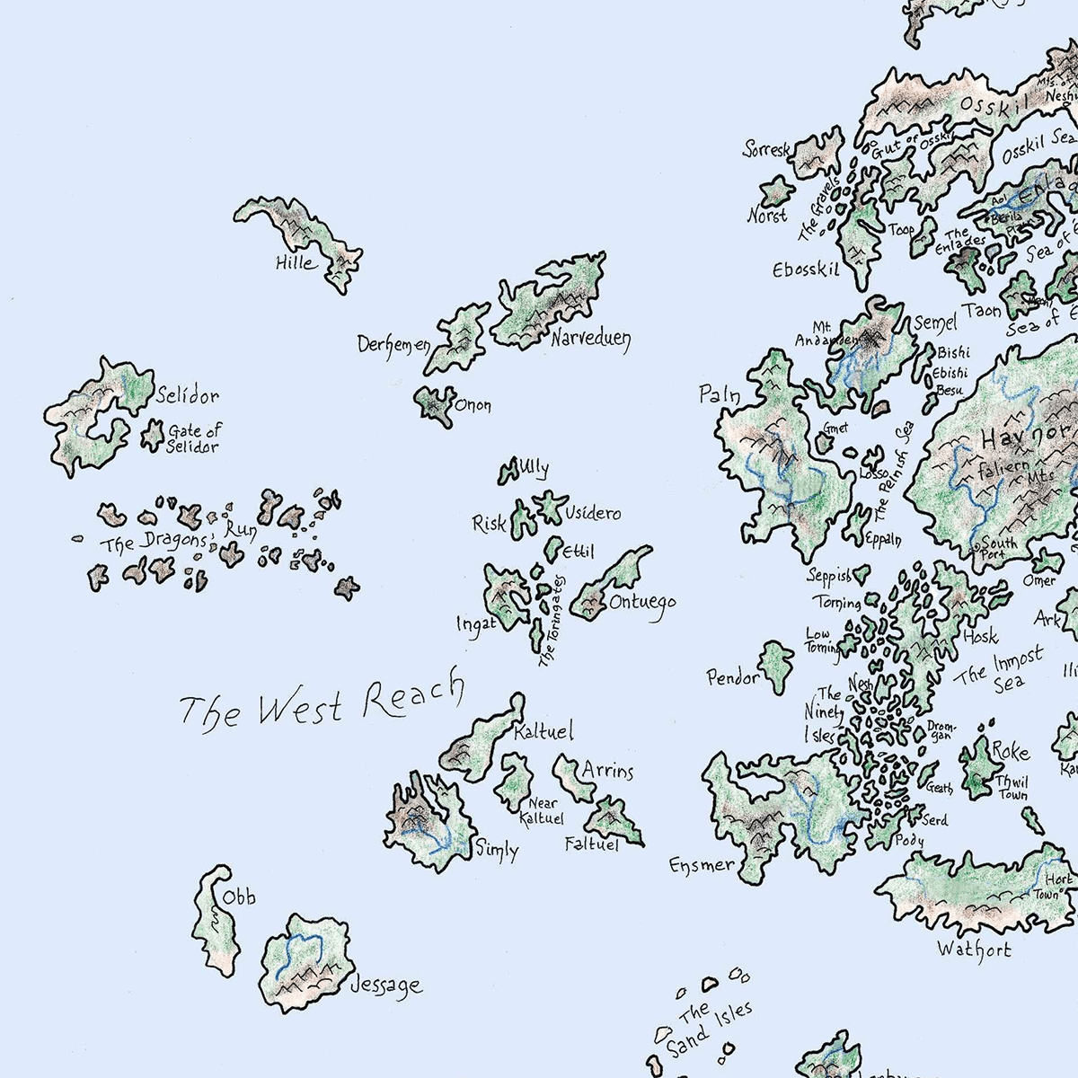Map of Earthsea by Ursula K. Le Guin