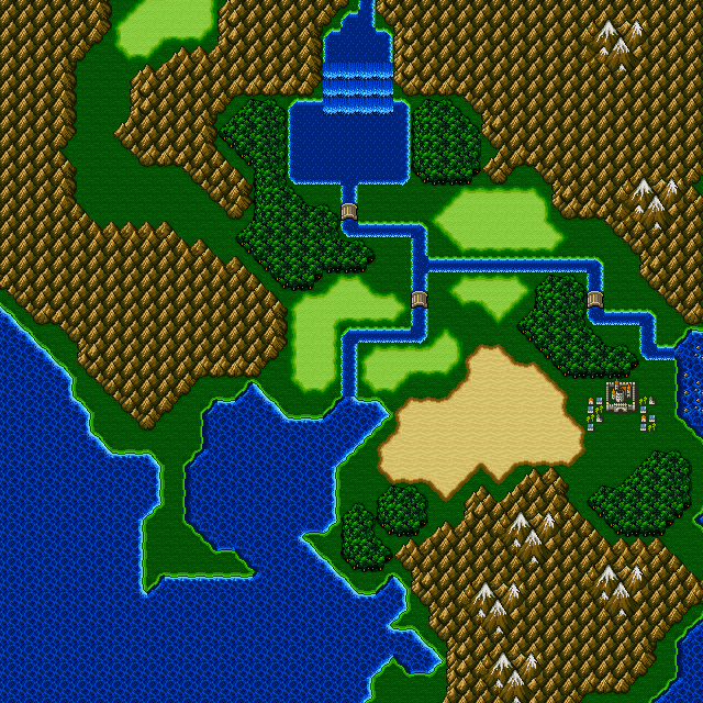 Section of the Final Fantasy II overworld map