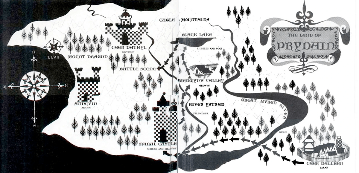 Map of Prydain by Evaline Ness