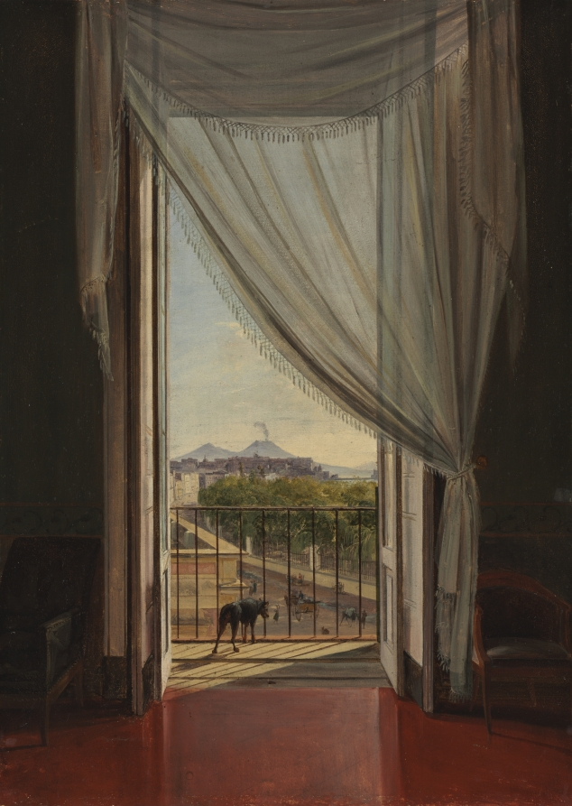 View of Naples through a Window